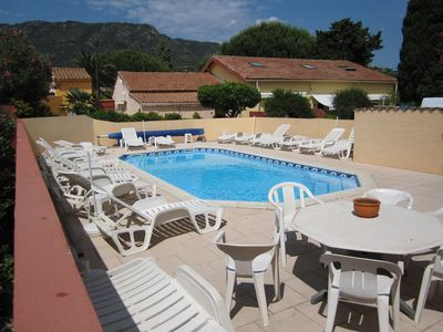 Photo for Apt. 3 * SAINT CLAIR LE LAVANDOU 60m from the beach heated swimming pool parking