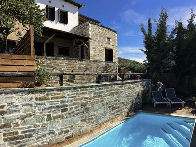 Photo for PELION HOMES | VILLA IRIS. A rustic, chic villa with pool and great sea views!