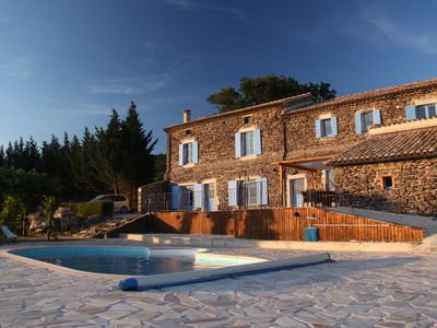 Photo for Country tranquility: 400 yrs old, 6 bedrooms, sleeps 14-16, private pool/sauna