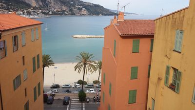 Photo for Menton old town, 300m from the beach, pedestrian street and all shops