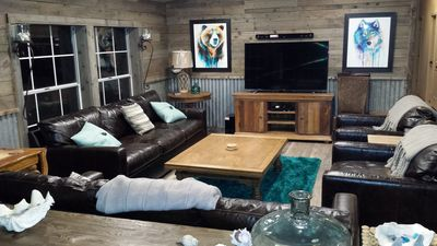 Photo for TIMBER DUNES Dune Access comfy woodland cabin