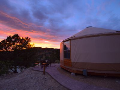 Photo for Yurt Overlook #9 at East Zion Resort (2 King beds)
