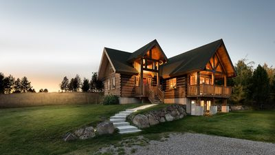 Photo for Private Log Home, unparalleled Teton Views, 10 minutes from downtown Driggs,
