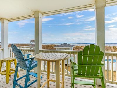 Photo for NEW 2BR Oceanfront Condo with private steps to pool and beach!