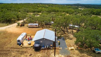 Photo for Glamping Fun! Epic 15-Acre Hill Country Retreat w/ Studio & 5 Airstreams