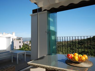 Photo for Luxurious Penthouse with spectacular costal views, WiFi, free Gym, East Marbella