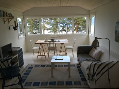 Photo for Cozy cottage with stunning lake views of Lake Vänern near Lidköping