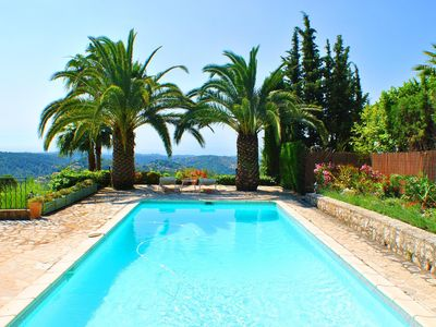 Photo for Beautiful Villa in Vence with Pool and Panoramic Views of the Sea and Mountains.
