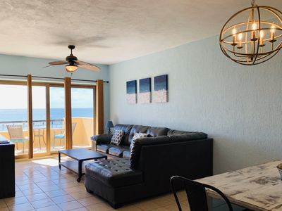"""Photo for Right on the Beach!  Ocean Front """"E"""" Building Penthouse at Princesa!"""