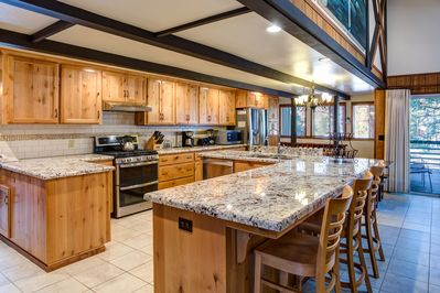 Fully equipped, recently remodeled (2016) kitchen with sufficient cookware and utensils to easily prepare food for 18 people.