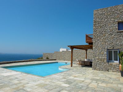 Photo for Luxury Villa Library Mykonos, 5 Bedrooms 6 Bathrooms, with Private Pool and open sea view, Up to 10 Guests