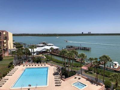 Photo for Top Floor Water Views! Overlooking the Pool and the Marco River