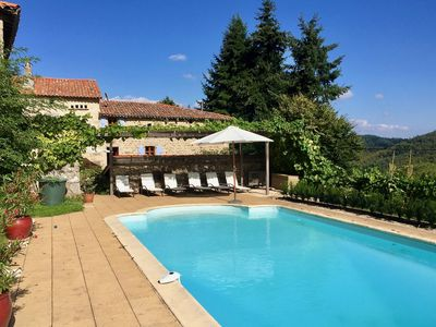 Photo for Beautifully restored house on a large property with a private swimming pool