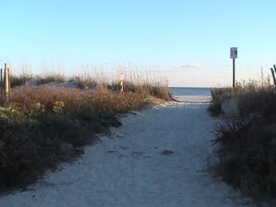 50 steps to this beach access across road