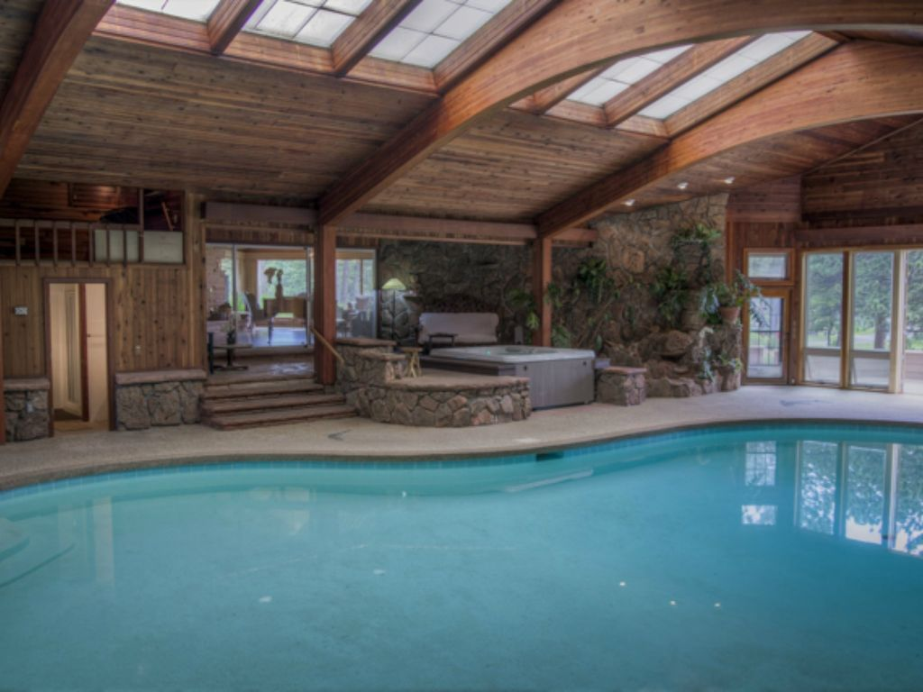 Home indoor pool and hot tub  Beloved Panoramic Home (registraton number ... - HomeAway