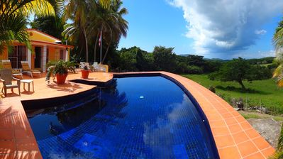 Photo for Private villa with pool and panoramic views in Pilon; 3 BR/2 BA