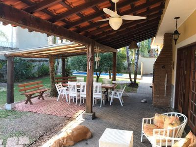 Photo for Beautiful house at less than 1 minute walk from the beach of Juquehy, with pool and air / cond