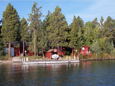 Photo for Moose Lodge Rustic Log Home  Includes  Two Boat Slip Dock with  2 guest cabins