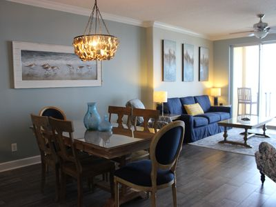 Photo for Ocean front 2 bdrm condo, great views, two miles West of Pier Park