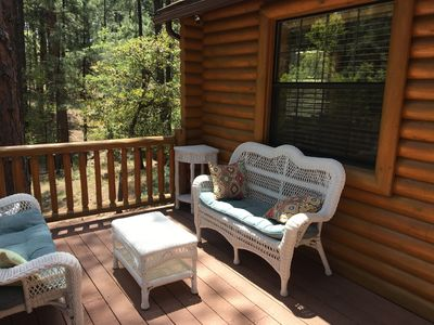 Photo for Guest house with deck in the forest just west of Prescott