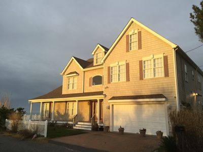 Photo for CapeMay waterfront Delaware bay, built right on  beach house, avail 7/13 to 7/20