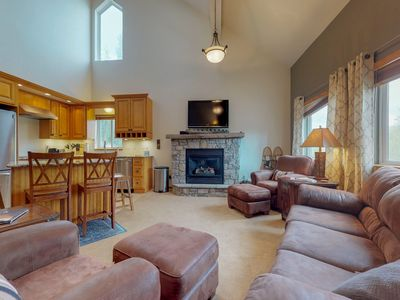 Photo for NEW LISTING! Family-friendly condo w/private hot tub & fireplace - near skiing