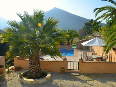 Photo for Country house in Jalon with private pool near the beach in Calpe