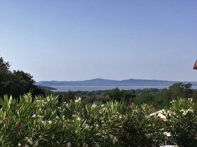 Photo for Villa of 2010 with private pool. Great view of Lake Trasimeno.
