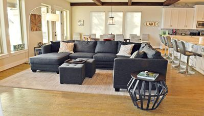 Never be away from the action with this open concept living, dining , kitchen.