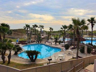 Photo for Beach Front with view of Sparkling Pools and Gulf of Mexico.  We have reopened!
