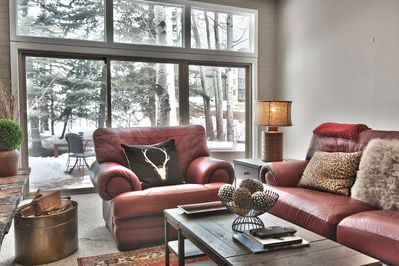 Enjoy the views from the overstuffed comfy couches in the great room