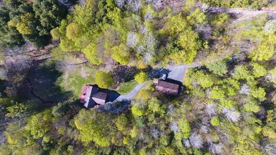 Aerial View of the House and the 4 car garage
