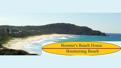 Beach and surf views over iconic Boomerang Beach