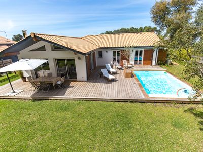 Photo for Villa 6 people / heated pool / nearby golf & beach / holiday house
