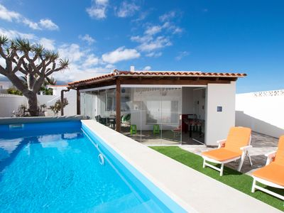 Photo for Villa with Private Pool&Sea Views &El Teide &Beach - House for 4 people in Arico
