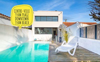 Photo for House Downtown, beach 350 m, heated pool
