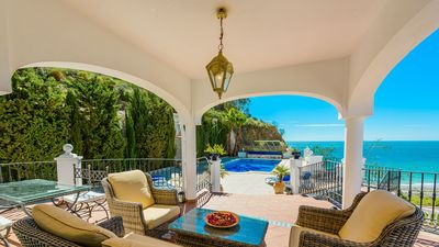 Photo for Magnificent villa with sea view in Nerja