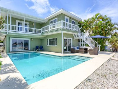 Photo for Spectacular Waterfront Home Near Beach!  Private Pool and Boat Dock–Salty Sunrise, Indian Rocks