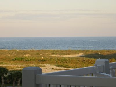 Unobstructed views of the Atlantic from the spacious furnished deck!