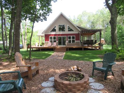 Photo for Michigan's BEST Riverfront Cabin.  A couple of summer weeks remaining!