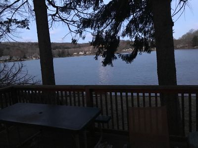 View of the lake from master bedroom