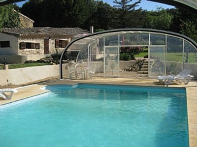 Photo for Stone Cottage With Private Pool Set Within Ancient Vineyards Near Pezenas