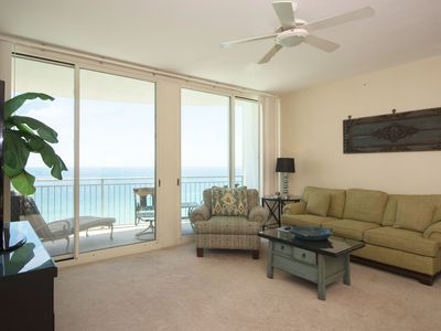 Photo for 1805 - 2B/2 Bath With Bunks - Gulf Front Balcony - Living Room Faces the Gulf
