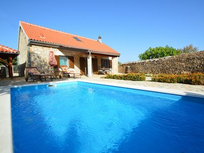 Photo for This 3-bedroom villa for up to 8 guests is located in Oklaj and has a private swimming pool, air-con