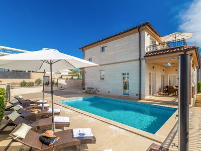 Photo for Wonderful and luxury holiday home  with private pool in Linardici, Island Krk, Croatia for 8 persons