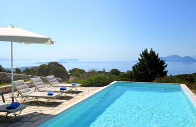 Photo for Exclusive luxury villa, private pool, Ionian sea views from every room & space