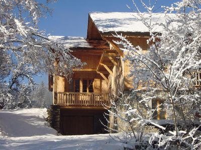 Photo for Beautiful, spacious chalet apartment in Morillon,close by Samoens Haute Savoie