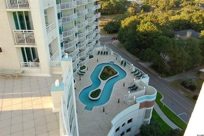 balcony view to the lazy river