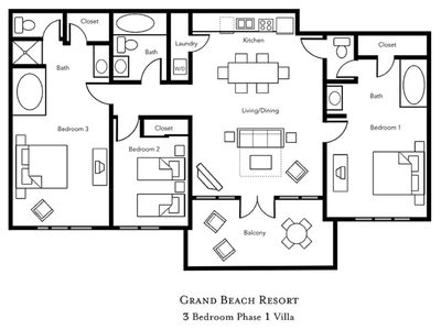 Photo for 3 BDRM CONDO~ GRAND BEACH RESORT~ ONSITE LAKE~TENNIS~VOLLEYBALL~YOGA~POOLS &MORE
