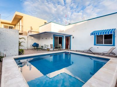 Photo for Comfortable 2 Bedroom House with a Pool in Downtown Cozumel.